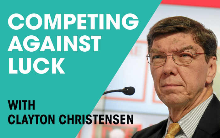 Clayton Christensen December Event
