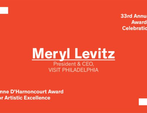 Awards 2018: The Anne d'Harnoncourt Award goes to Meryl Levitz
