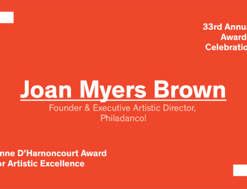 Awards 2018: The Anne d'Harnoncourt Award goes to Joan Myers Brown