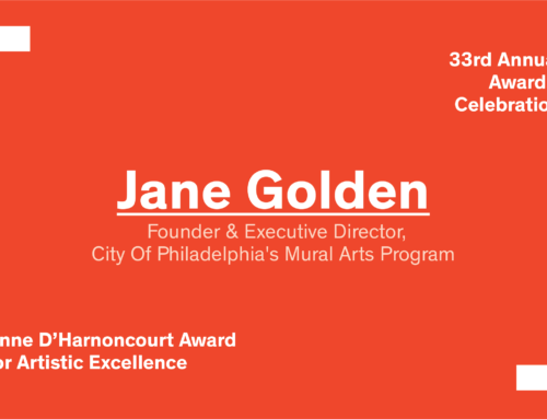 Awards 2018: The Anne d'Harnoncourt Award goes to Jane Golden