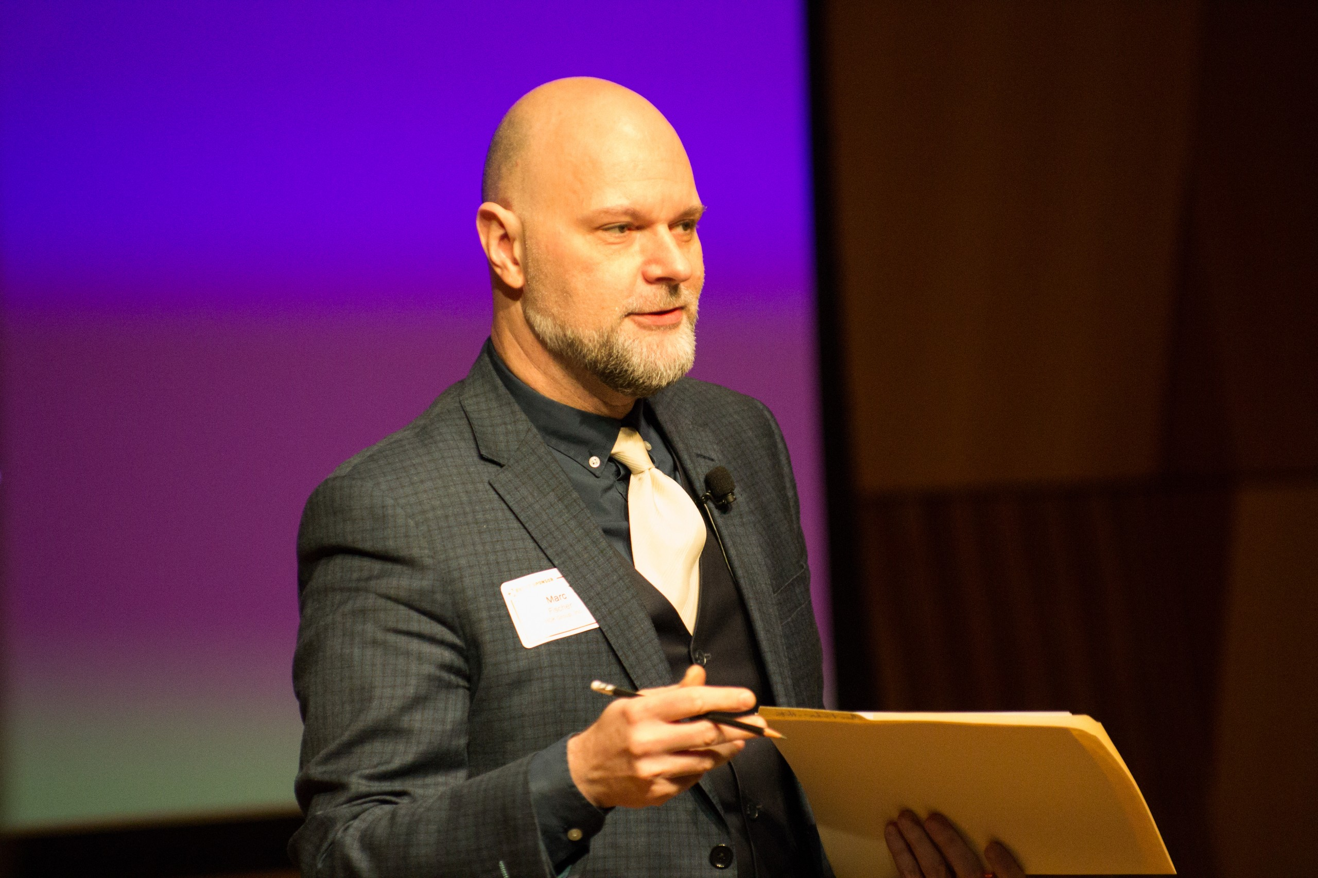 Photo of Defining Innovation speakers talking